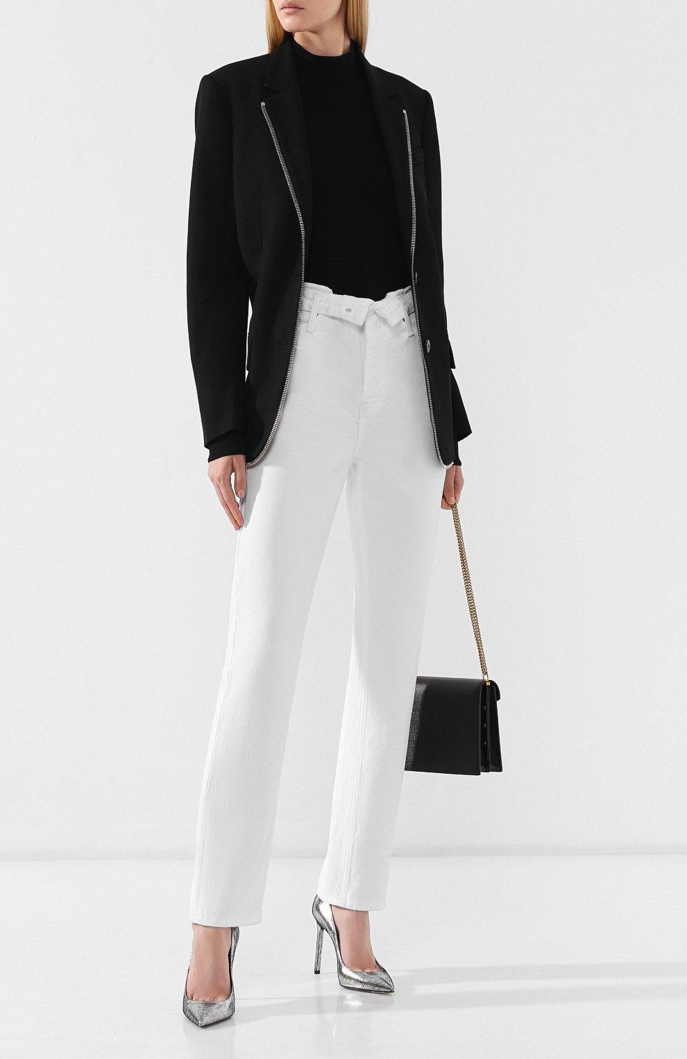 Женские джинсы DENIM X ALEXANDER WANG белого цвета, арт. 4DC2194539 | Фото 2