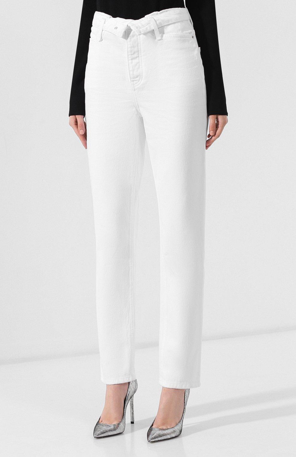 Женские джинсы DENIM X ALEXANDER WANG белого цвета, арт. 4DC2194539 | Фото 3