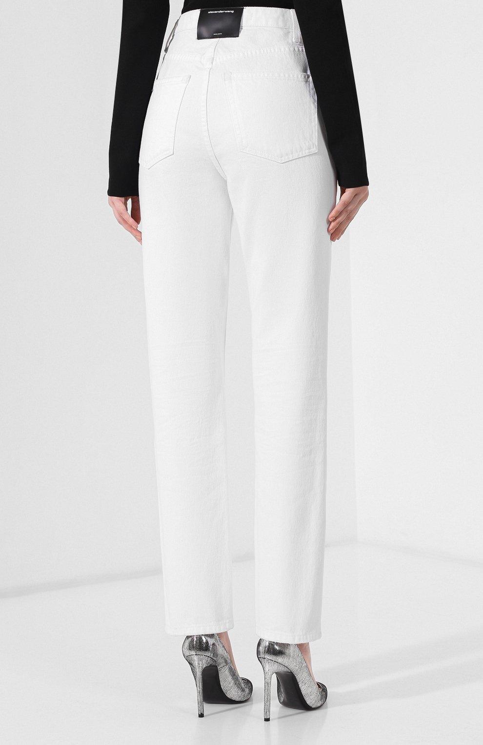 Женские джинсы DENIM X ALEXANDER WANG белого цвета, арт. 4DC2194539 | Фото 4