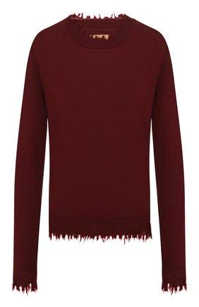 Женская кашемировый пуловер UMA WANG бордового цвета, арт. A9 M UK7154 | Фото 1