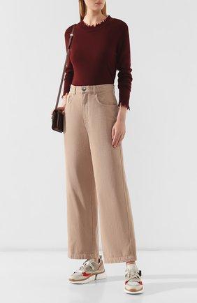 Женская кашемировый пуловер UMA WANG бордового цвета, арт. A9 M UK7154 | Фото 2