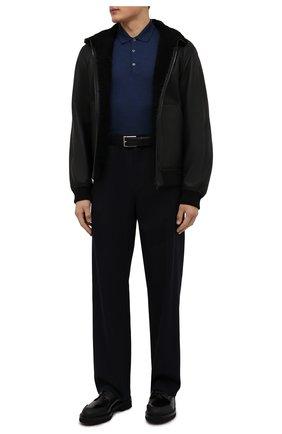 Мужское шерстяное поло JOHN SMEDLEY синего цвета, арт. BELPER | Фото 2
