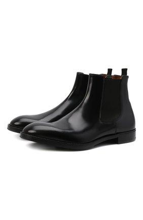 Мужские кожаные челси PREMIATA черного цвета, арт. 31308/REAL | Фото 1