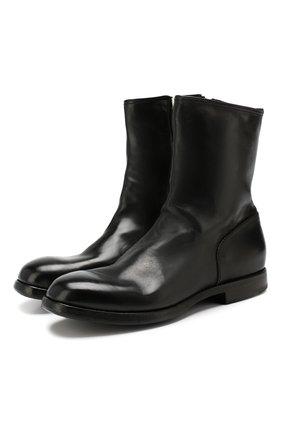Мужские кожаные сапоги PREMIATA черного цвета, арт. 31294/LUX | Фото 1