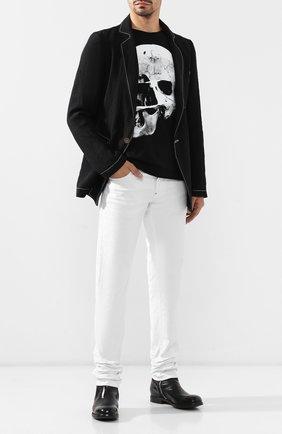 Мужские кожаные сапоги PREMIATA черного цвета, арт. 31294/LUX | Фото 2
