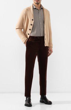 Мужская хлопковая сорочка LUIGI BORRELLI коричневого цвета, арт. EV08/NAND0/TS8557 | Фото 2