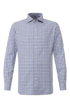 Мужская хлопковая сорочка LUIGI BORRELLI синего цвета, арт. EV08/NAND0/TS8558 | Фото 1