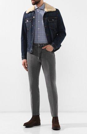 Мужская хлопковая сорочка LUIGI BORRELLI синего цвета, арт. EV08/NAND0/TS8558 | Фото 2