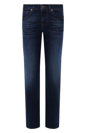 Мужские джинсы 7 FOR ALL MANKIND темно-синего цвета, арт. JSMSL390BV | Фото 1