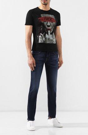 Мужские джинсы 7 FOR ALL MANKIND темно-синего цвета, арт. JSMSL390BV | Фото 2