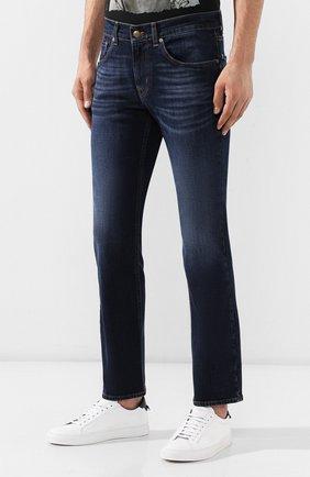 Мужские джинсы 7 FOR ALL MANKIND темно-синего цвета, арт. JSMSL390BV | Фото 3