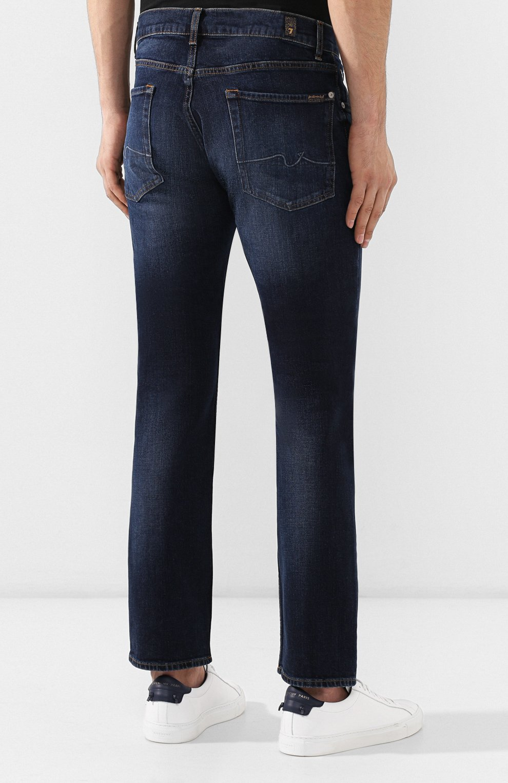 Мужские джинсы 7 FOR ALL MANKIND темно-синего цвета, арт. JSMSL390BV | Фото 4
