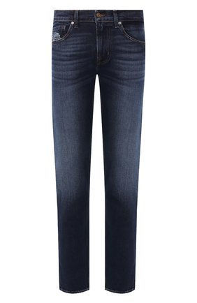 Мужские джинсы 7 FOR ALL MANKIND темно-синего цвета, арт. JSMTL390BV | Фото 1