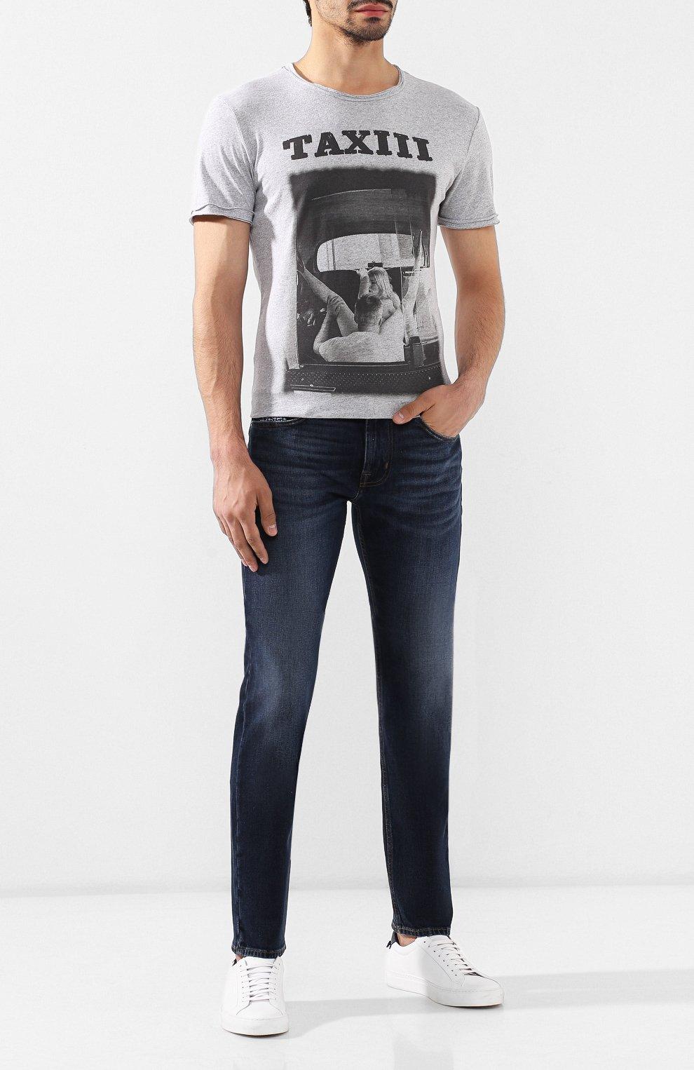 Мужские джинсы 7 FOR ALL MANKIND темно-синего цвета, арт. JSMTL390BV | Фото 2