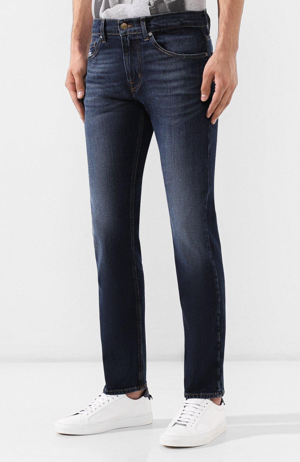 Мужские джинсы 7 FOR ALL MANKIND темно-синего цвета, арт. JSMTL390BV | Фото 3