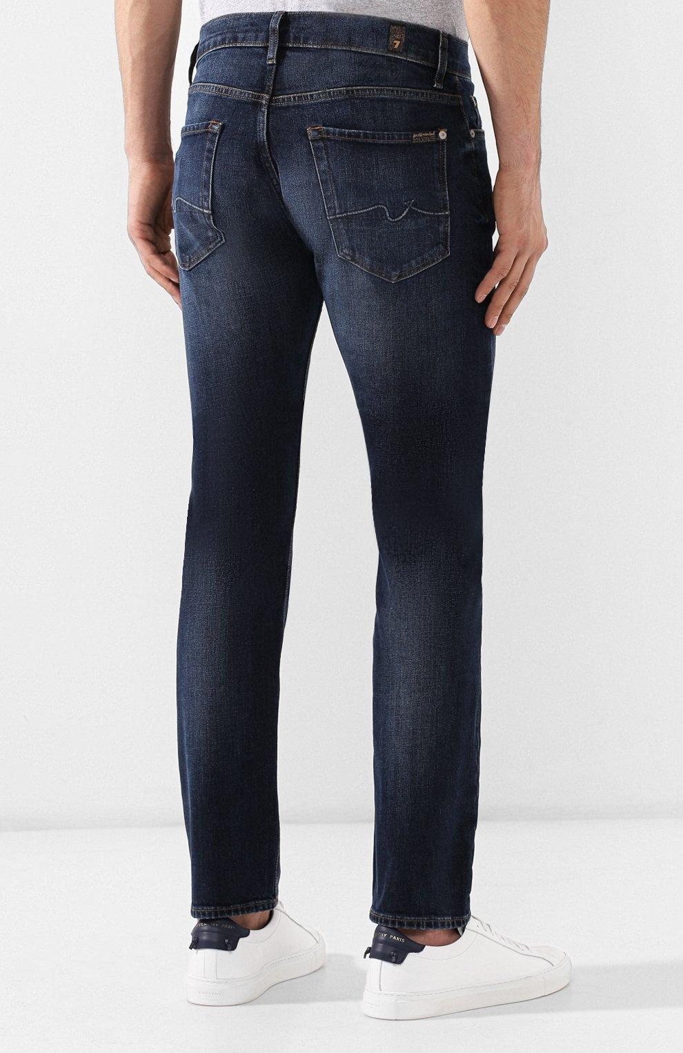 Мужские джинсы 7 FOR ALL MANKIND темно-синего цвета, арт. JSMTL390BV | Фото 4