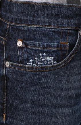 Мужские джинсы 7 FOR ALL MANKIND темно-синего цвета, арт. JSMTL390BV | Фото 5