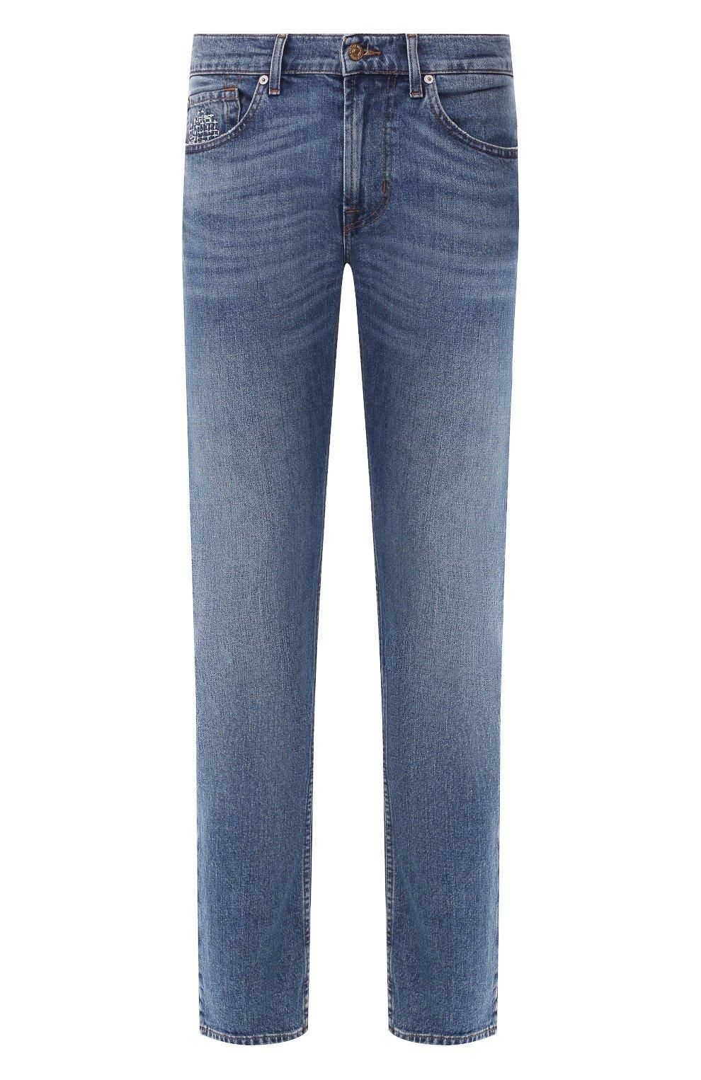 Мужские джинсы 7 FOR ALL MANKIND синего цвета, арт. JSMTL390DH | Фото 1