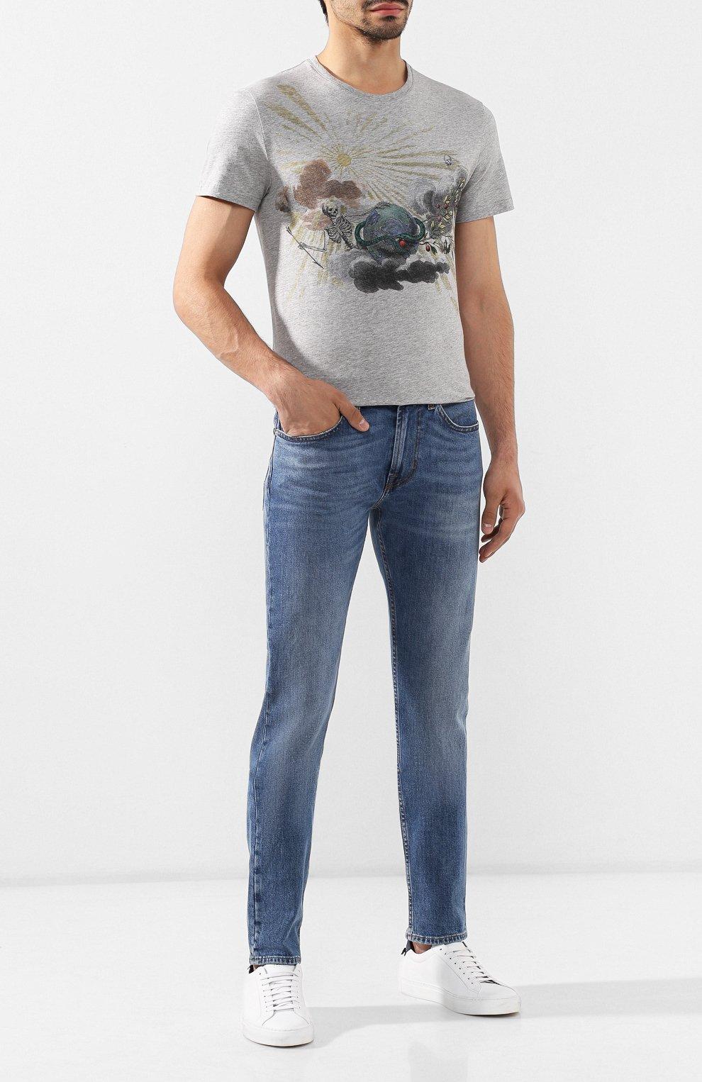 Мужские джинсы 7 FOR ALL MANKIND синего цвета, арт. JSMTL390DH | Фото 2