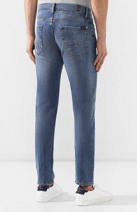 Мужские джинсы 7 FOR ALL MANKIND синего цвета, арт. JSMTL390DH | Фото 4