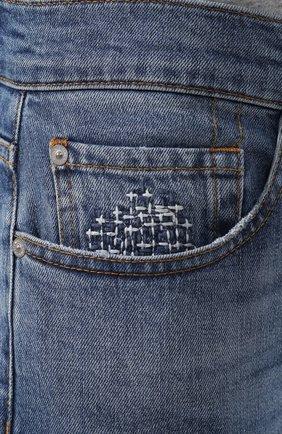 Мужские джинсы 7 FOR ALL MANKIND синего цвета, арт. JSMTL390DH | Фото 5