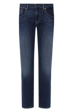 Мужские джинсы 7 FOR ALL MANKIND темно-синего цвета, арт. JSSCU250MX | Фото 1
