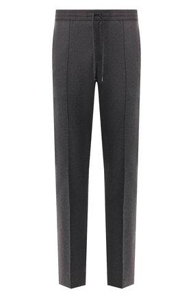 Мужской брюки из смеси шерсти и кашемира BRIONI темно-серого цвета, арт. RPM10L/08AB3/SIDNEY | Фото 1