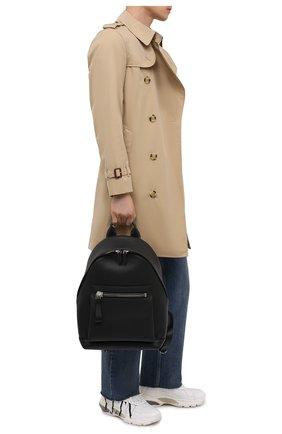 Мужской кожаный рюкзак TOM FORD черного цвета, арт. H0414P-LCL041   Фото 2