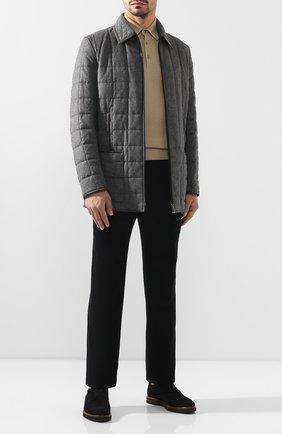 Мужская куртка из смеси шелка и шерсти ZILLI серого цвета, арт. MAS-IF0X0-30291/0004 | Фото 2