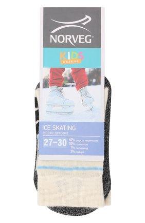 Детские шерстяные носки NORVEG кремвого цвета, арт. 9ICSURU-011 | Фото 1