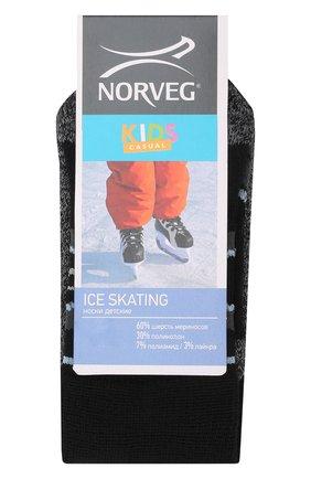 Детские шерстяные носки NORVEG черного цвета, арт. 9ICSURU-002 | Фото 1