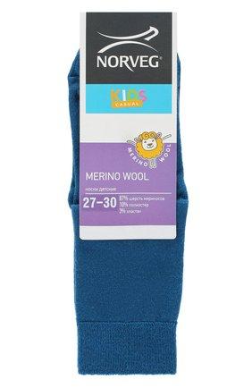 Детские шерстяные носки NORVEG синего цвета, арт. 9WURU-048 | Фото 1