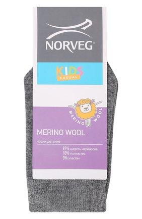 Детские шерстяные носки NORVEG серого цвета, арт. 9WURU-003 | Фото 1