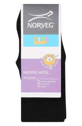 Детские шерстяные носки NORVEG черного цвета, арт. 9WURU-002 | Фото 1