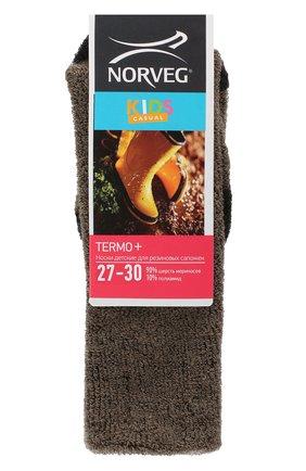 Детские шерстяные носки NORVEG коричневого цвета, арт. 9THSRU-018 | Фото 1