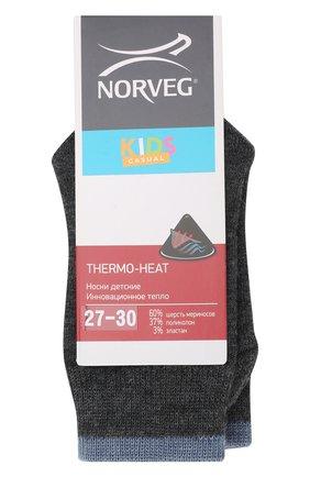 Детские шерстяные носки NORVEG темно-серого цвета, арт. 9THURU-041 | Фото 1