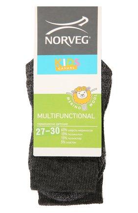 Детские шерстяные носки NORVEG темно-серого цвета, арт. 9MURU-041 | Фото 1