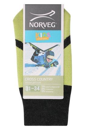 Детские шерстяные носки NORVEG серого цвета, арт. 9CRCURU-172 | Фото 1