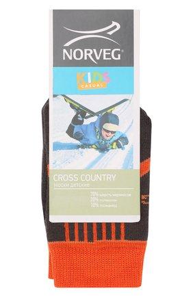 Детские шерстяные носки NORVEG оранжевого цвета, арт. 9CRCURU-192 | Фото 1