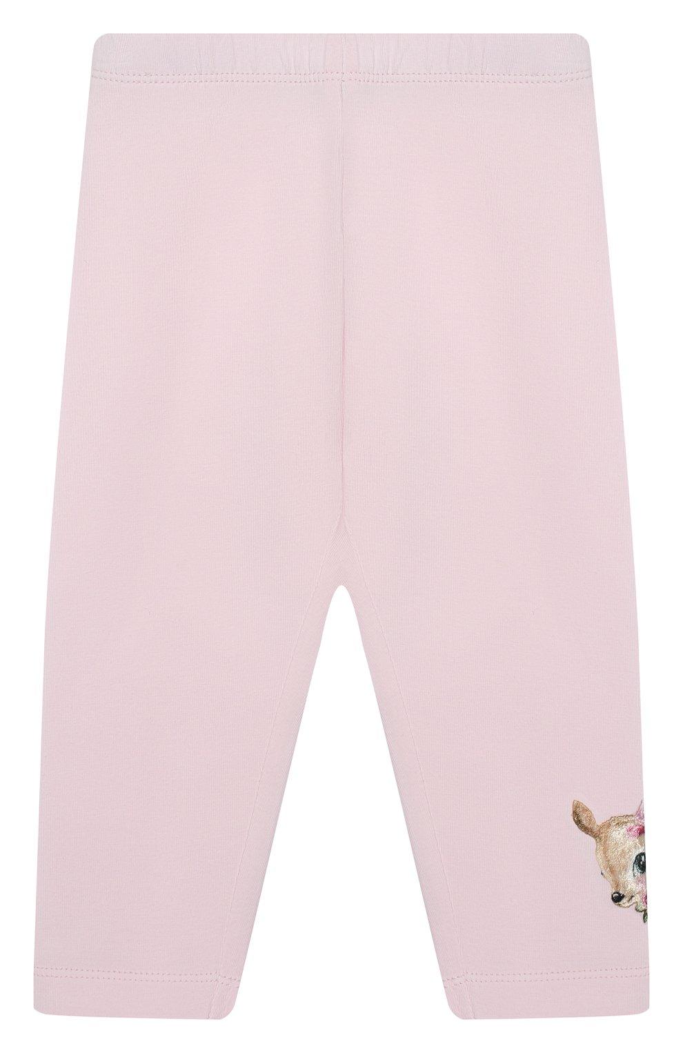 Детские леггинсы MONNALISA розового цвета, арт. 314403A7 | Фото 1