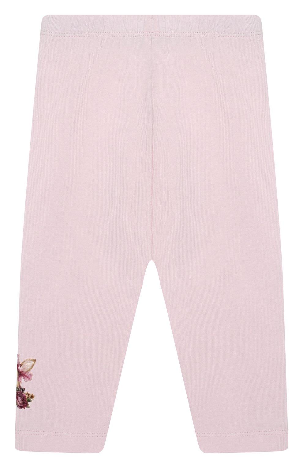 Детские леггинсы MONNALISA розового цвета, арт. 314403A7 | Фото 2