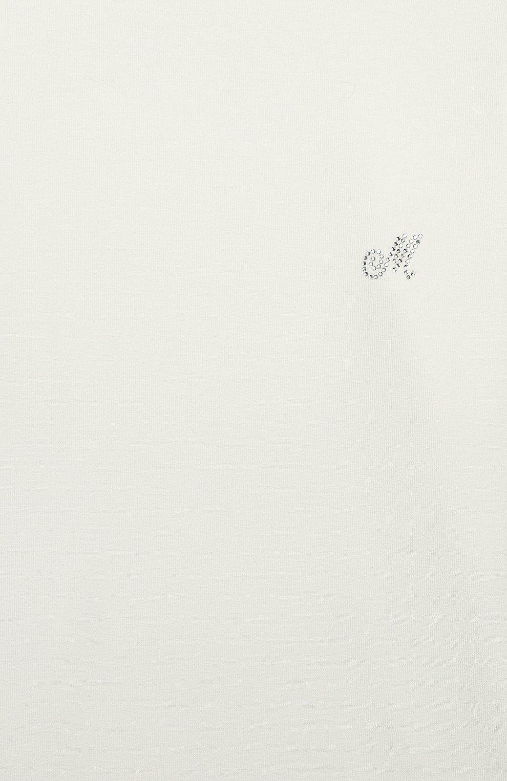 Детская хлопковая водолазка MONNALISA бежевого цвета, арт. 17CLUP | Фото 3