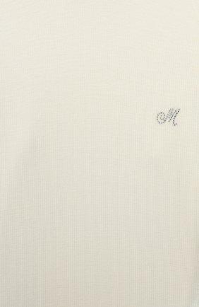 Детская хлопковая водолазка MONNALISA бежевого цвета, арт. 17CLUC | Фото 3