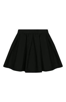 Детская юбка MONNALISA черного цвета, арт. 18CGON | Фото 1