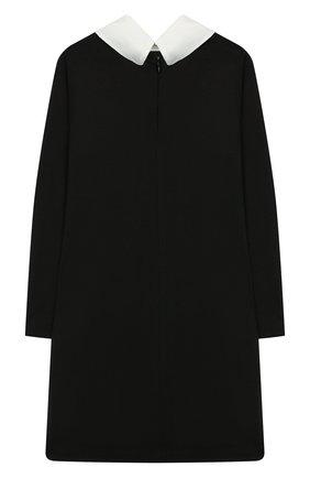 Детское платье из вискозы MONNALISA черного цвета, арт. 18CABI | Фото 2