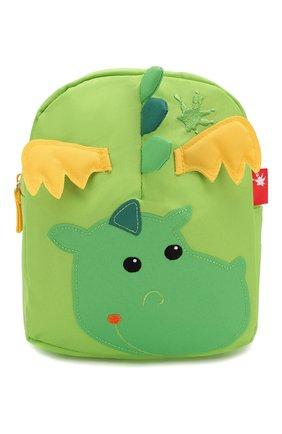 Детская рюкзак дракон SIGIKID зеленого цвета, арт. 24216 | Фото 1