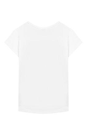 Детский хлопковая футболка KENZO белого цвета, арт. KP10248-BB | Фото 2