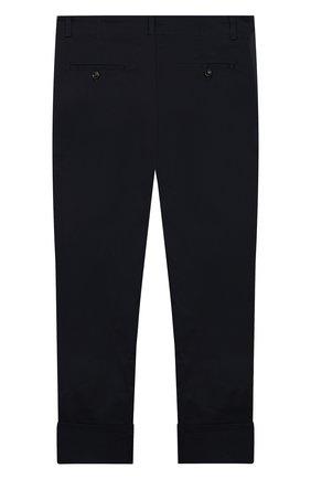 Детские хлопковые брюки GUCCI синего цвета, арт. 475447/XBB56 | Фото 2