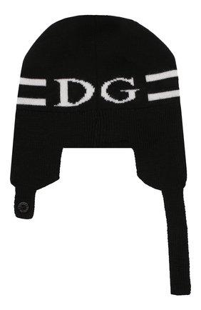 Детского шерстяная шапка DOLCE & GABBANA черно-белого цвета, арт. LNKH18/JAVPF | Фото 2