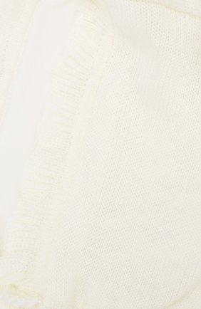 Детского шерстяная шапка-балаклава CATYA белого цвета, арт. 923608/P | Фото 3